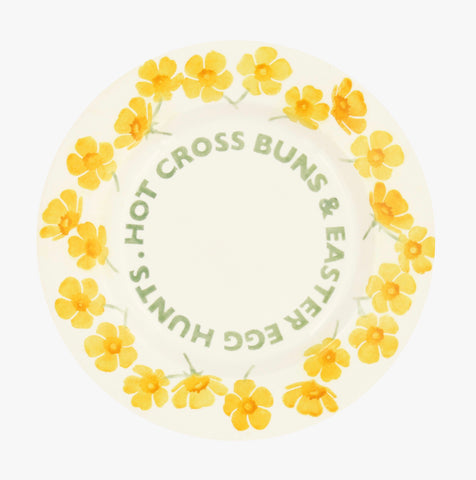 "Emma Bridgewater Buttercup Hot Cross Buns 8.5"" Plate"