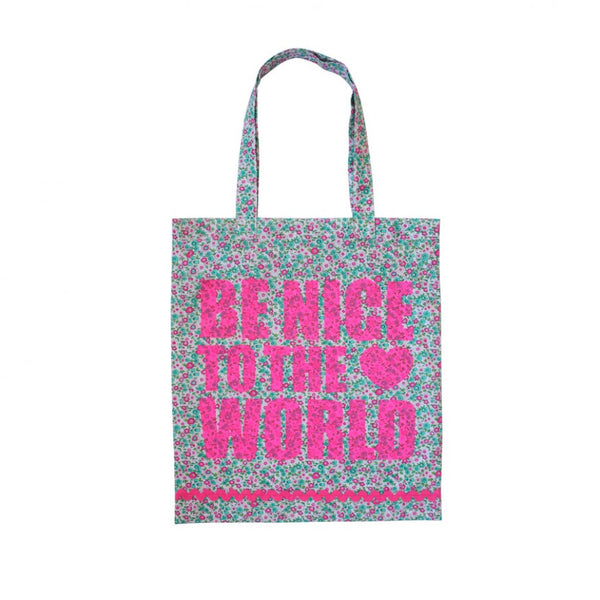 Bombay Duck Be Nice To The World Printed Tote Bag