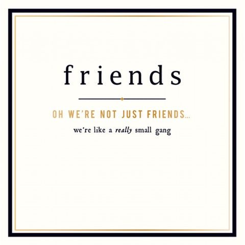 Alice Scott Greetings Card - Not Just Friends