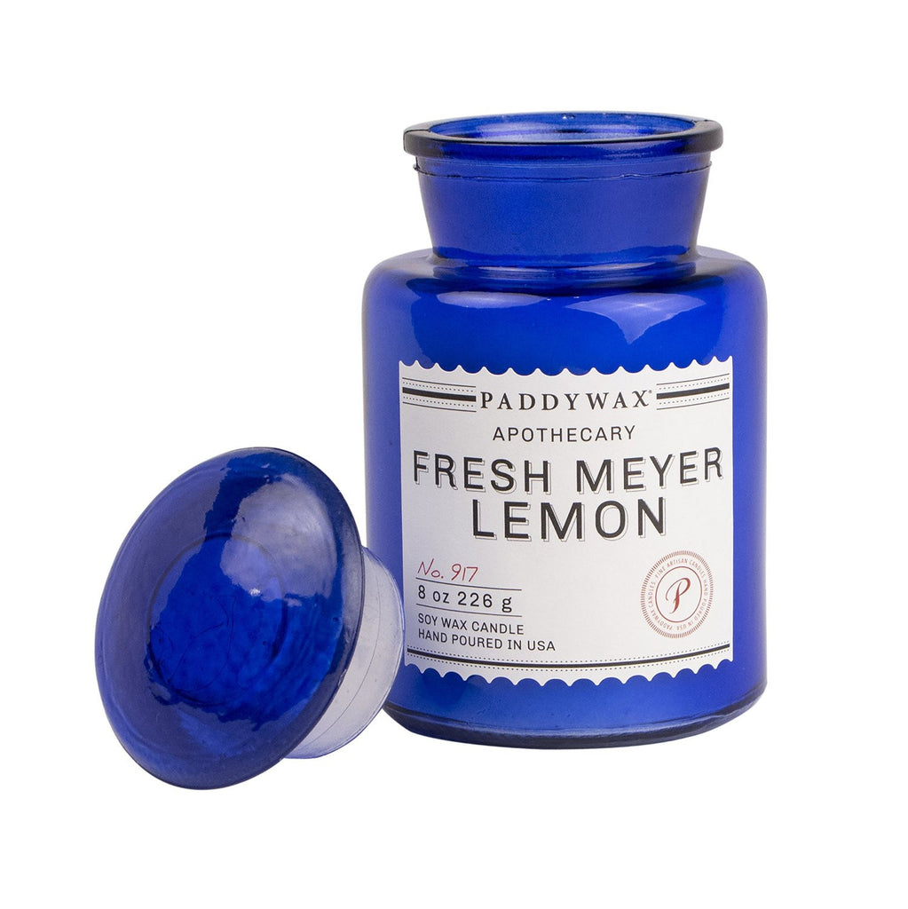 Paddywax Blue Apothecary Fresh Meyer Lemon Candle (8oz.)
