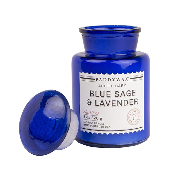 Paddywax Blue Apothecary Blue Sage & Lavender Candle (8oz.)