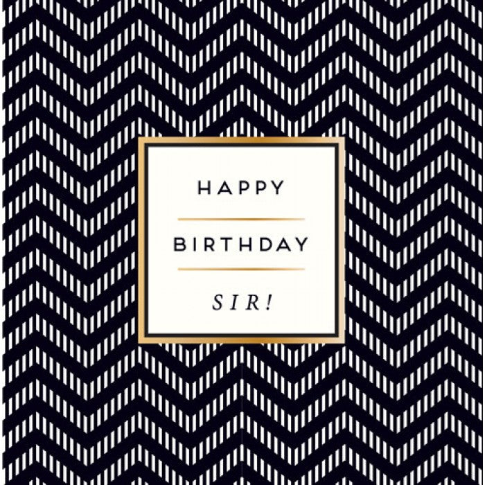 Alice Scott Birthday Card - Happy Birthday Sir