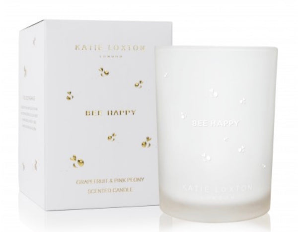 Katie Loxton Bee Happy Candle - Grapefruit & Pink Peony