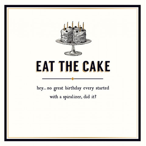 Alice Scott Birthday Card - Eat the Cake