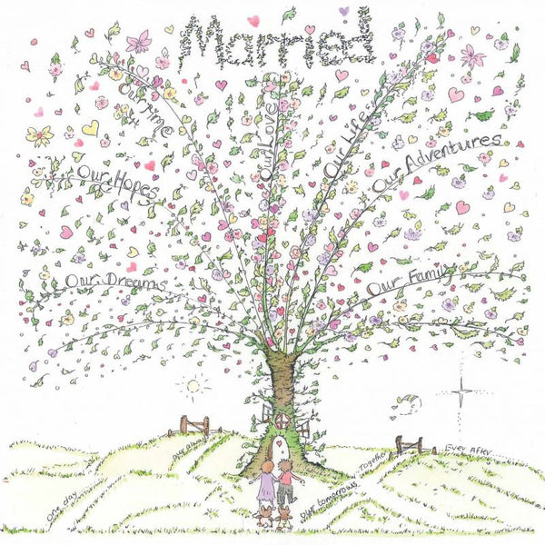 The Porch Fairies Card - Married (Love Tree)