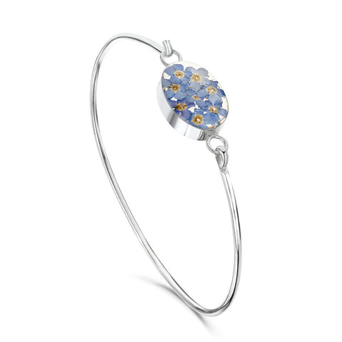 Shrieking Violet Forget-Me-Not Bangle - Oval