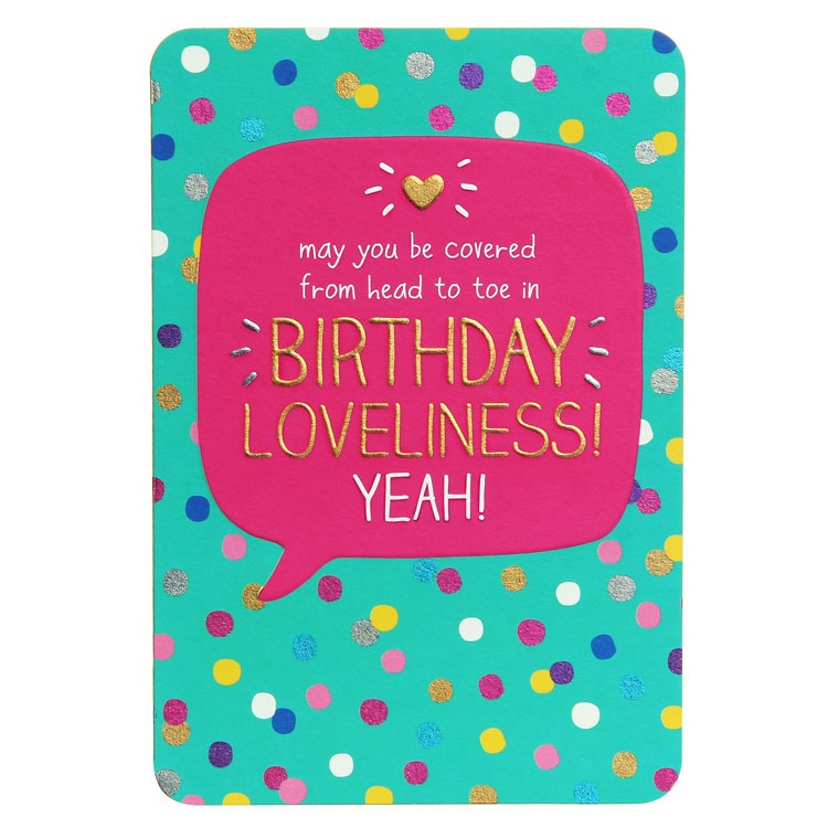 Happy Jackson Birthday Card - Head To Toe in Birthday Loveliness