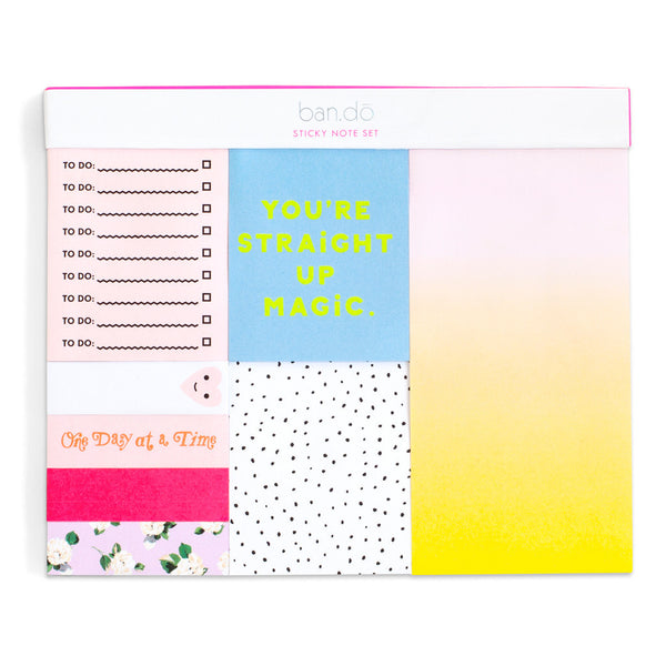 Ban.do Sticky Note Set - Straight Up Magic