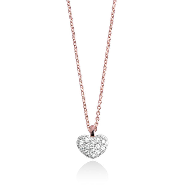 Forever Joma The Fine Collection Rose Gold Heart Necklace
