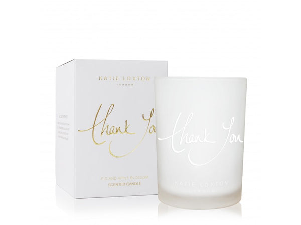 Katie Loxton Thank You Candle - Fig & Apple Blossom