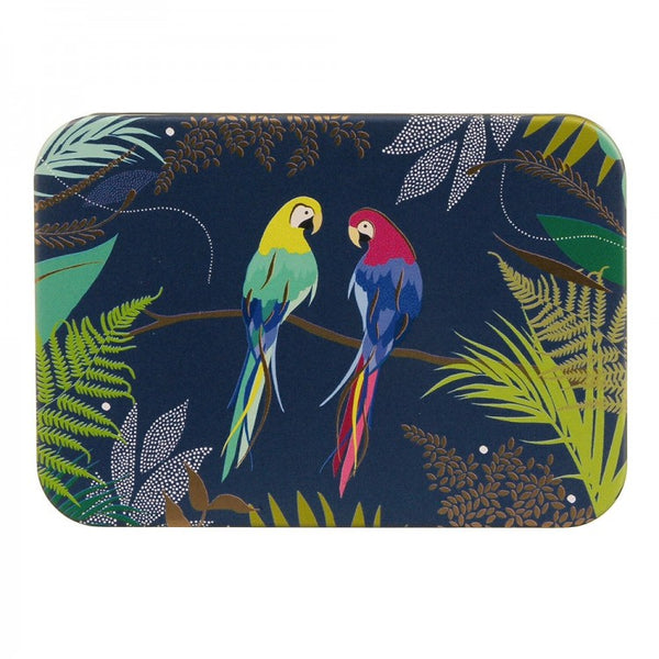 Sara Miller Parrots Pocket Tin
