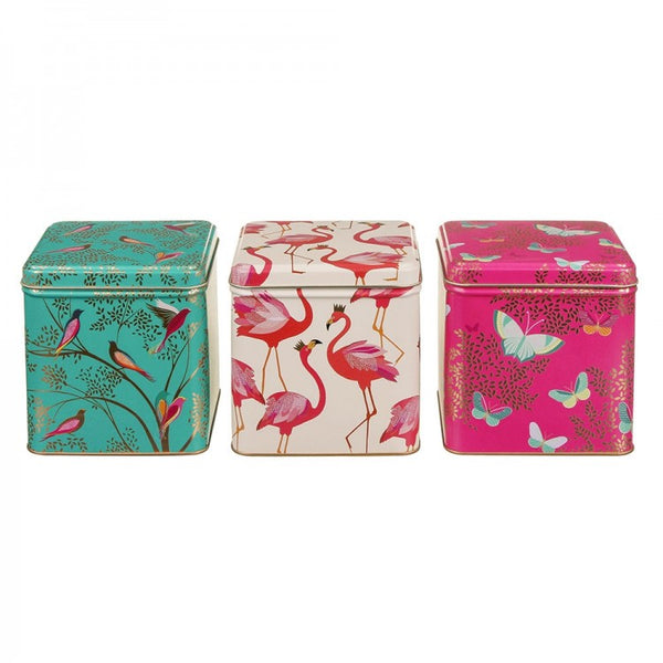 Sara Miller Set of 3 Square Tins