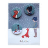 Belle & Boo Hello Mr Fox Badge Set