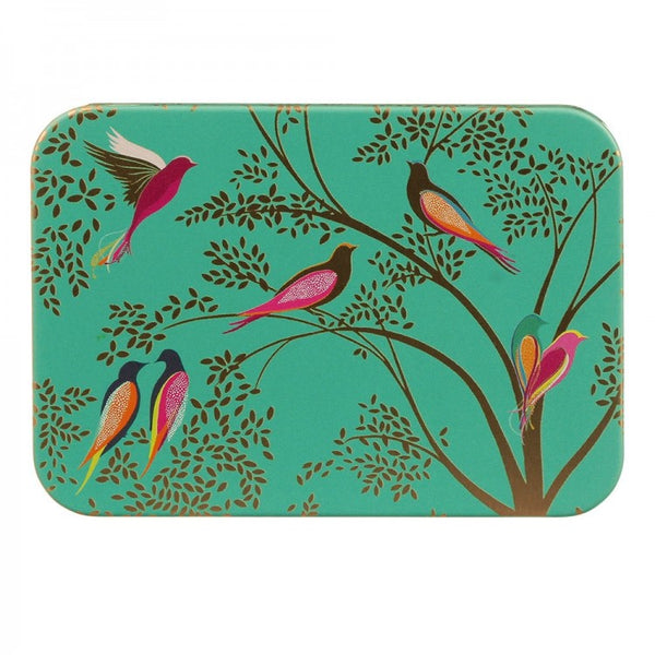 Sara Miller Green Birds Pocket Tin