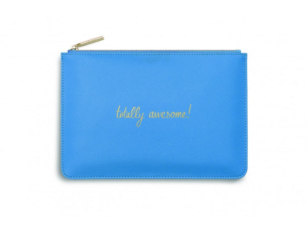 Katie Loxton Perfect Pouch - Totally Awesome! (Blue)