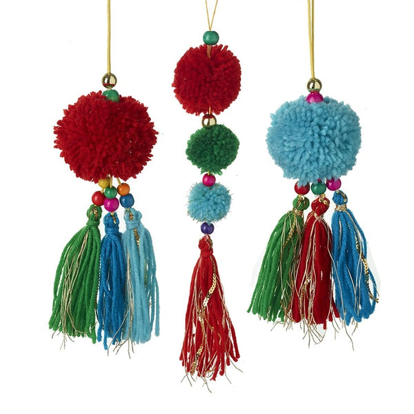 Bright Pom Pom Tassels - Set of 3