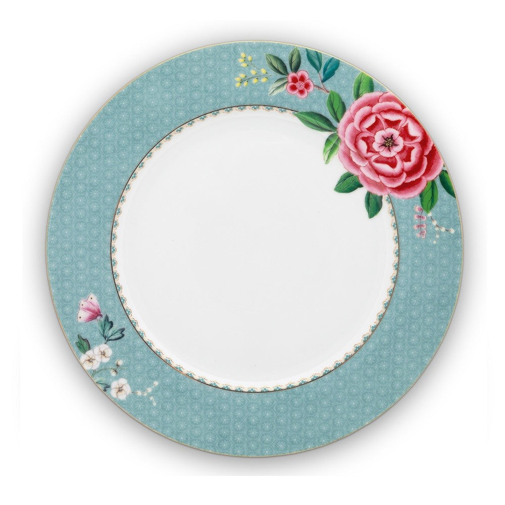Pip Studio Blushing Birds 26.5cm Plate - Blue