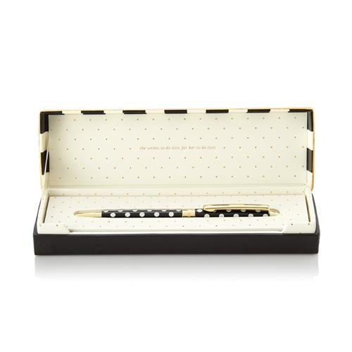Kate Spade New York Boxed Ballpoint Pen - White Dots