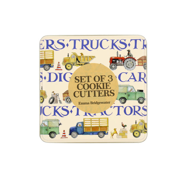 Emma Bridgewater Men at Work Cookie Cutters in Tin