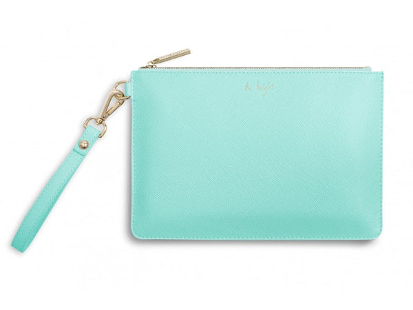Katie Loxton Secret Message Pouch - Be Bright / Be Happy, Be Bright, Be You! (Mint)