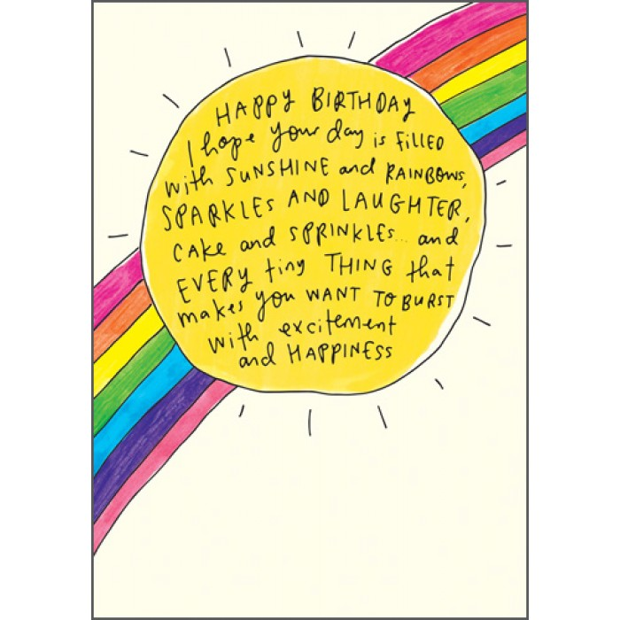 The Happy News Birthday Card - Sunshine & Rainbows