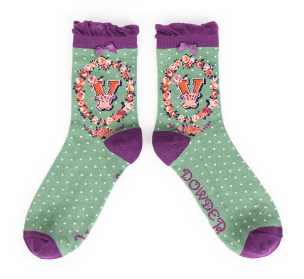 Powder A-Z Socks - V