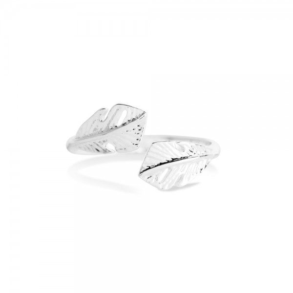 Joma Jewellery Falling Feather Ring
