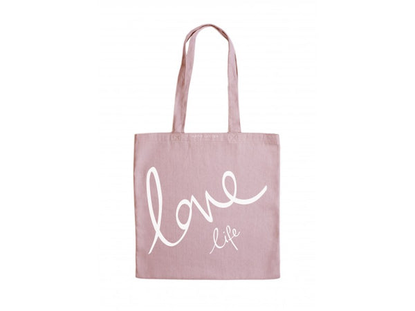 Katie Loxton Canvas Bag - Love Life (Pink)