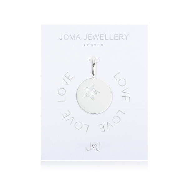 Joma Jewellery My Joma Charm - Silver Star Disc
