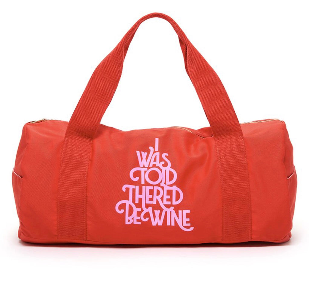 Ban.do Work It Out Gym Bag - I Was Told There'd Be Wine