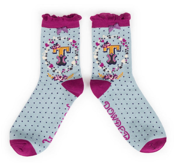Powder A-Z Socks - T