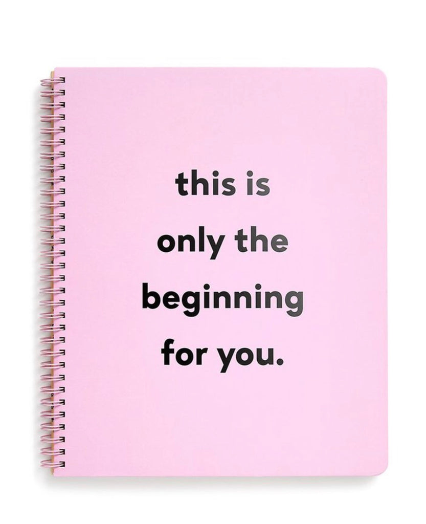 Ban.do Rough Draft Large Notebook -  This Is The Beginning For You