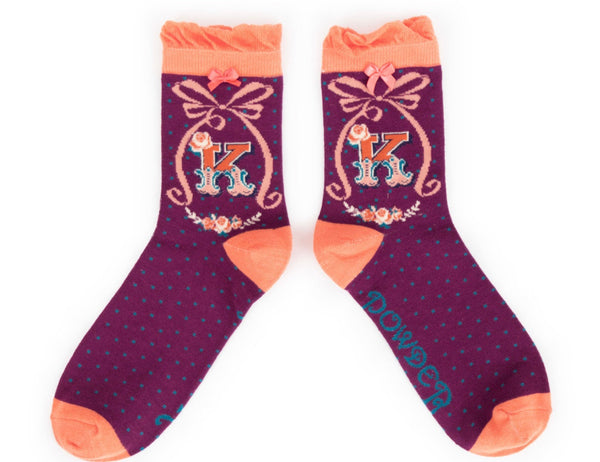 Powder A-Z Socks - K