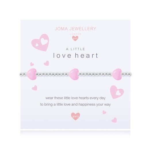 Joma Jewellery Girls A Little Love Heart Bracelet