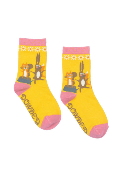 Powder Little Girl's Squirrel & Chums Ankle Socks