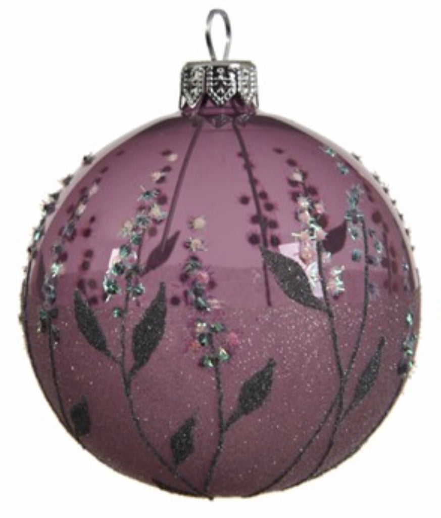 Cloudy Lilac Flower Dot Bauble