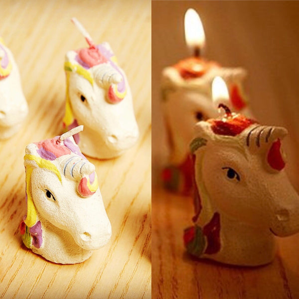 Mini Unicorn Candle