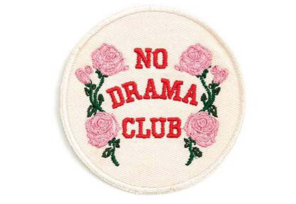 Ban.do Iron On Patch - No Drama Club