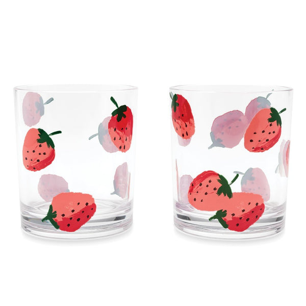 Kate Spade New York  Acrylic Drinkware - Strawberries (Set Of Two)