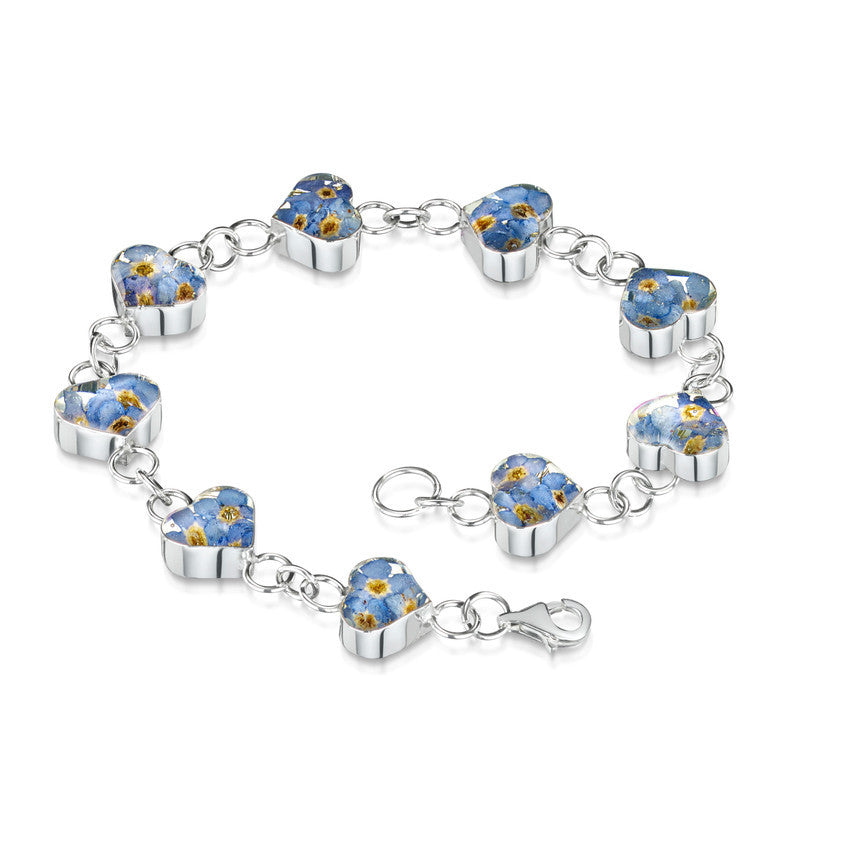 Shrieking Violet Forget-Me-Not Heart Bracelet