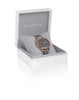 Joma Jewellery Charcoal Leather Watch - Rose Gold
