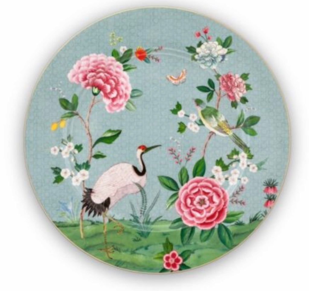 Pip Studio Blushing Birds 32cm Plate - Blue