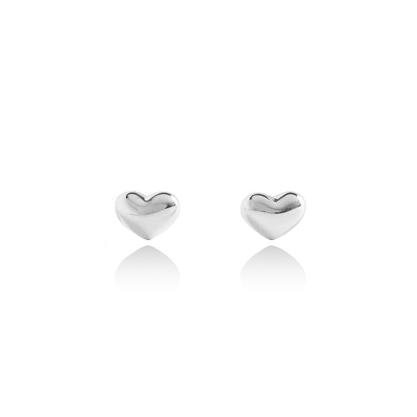 Forever Joma The True Collection Silver Heart Stud Earrings