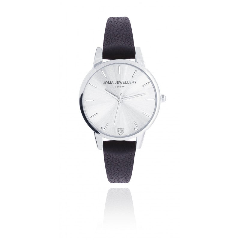 Joma Jewellery Lexi Leather Watch - Silver