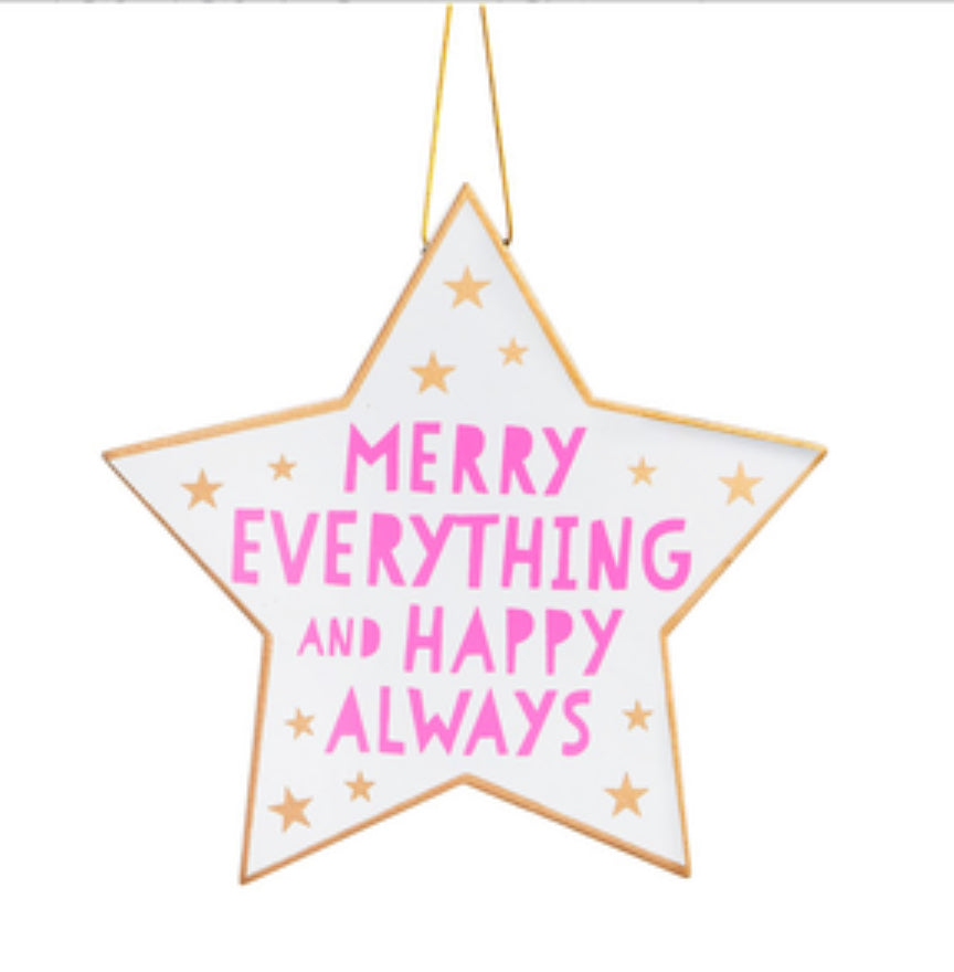 MERRY EVERYTHING Hanging Star Decoration