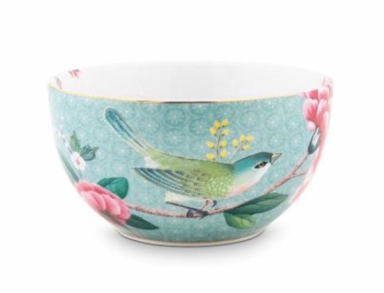 Pip Studio Blushing Birds Bowl 12 cm - Blue