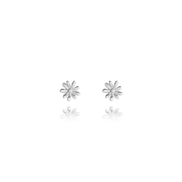 Joma Jewellery Daisy Stud Earrings - Silver