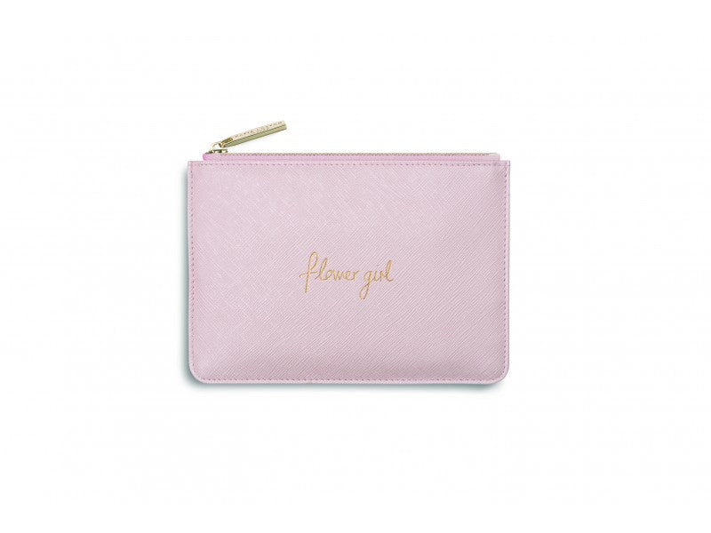 Katie Loxton Mini Perfect Pouch - Flower Girl (Metallic Pink)