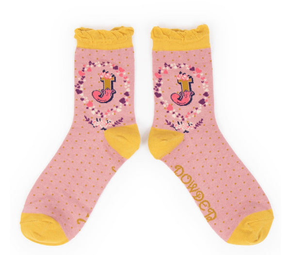 Powder A-Z Socks - J