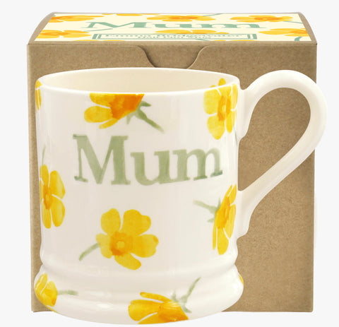 Emma Bridgewater Buttercup Scattered 1/2 Pint Mum Mug Boxed